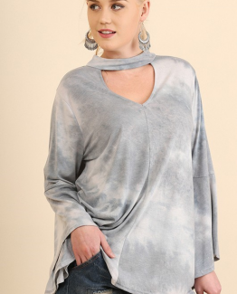 Picture1UMgee gray tie dye tunic top plus size