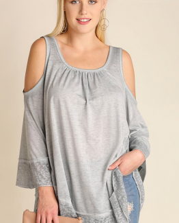 Umgee plus gray tunic top