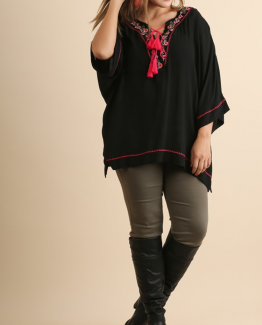 Umgee Black Plus Size Boho Top 4 - Copy